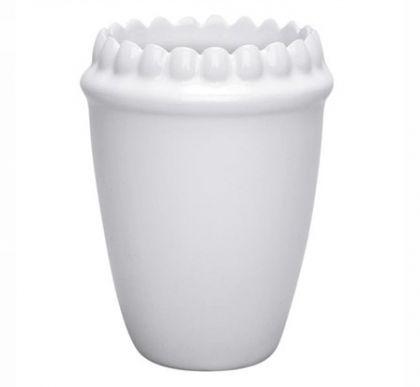 Зубной стакан на ножках белый