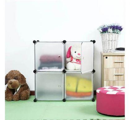 Шкафчик из 4 кубов для хранения, белый