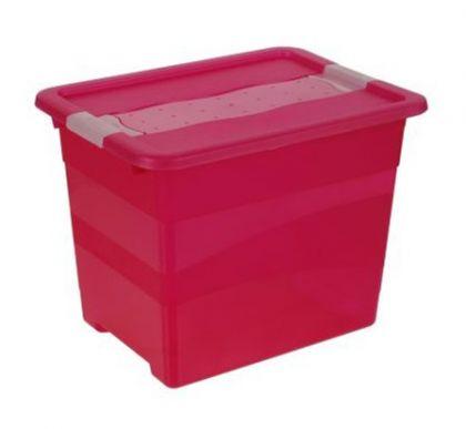 Ящик для хранения Кристал 24л промо, розовый