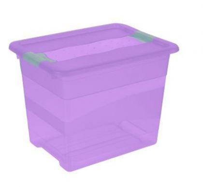 Ящик для хранения Кристал 24л промо, фиолетовый