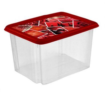 Ящик укладываемый с крышкой Декор 24л