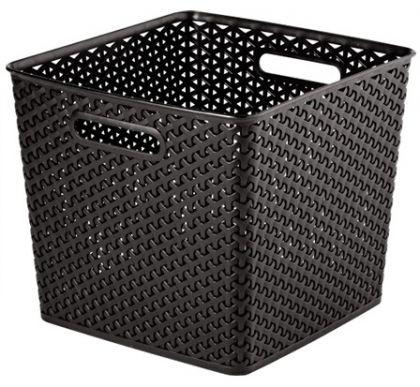 Ящик для хранения плетеный квадратный, разные цвета