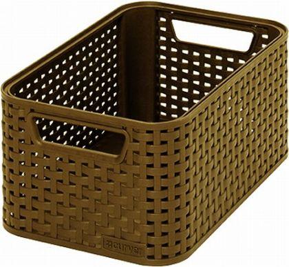Ящик для хранения плетеный Раттан 6л, разные цвета