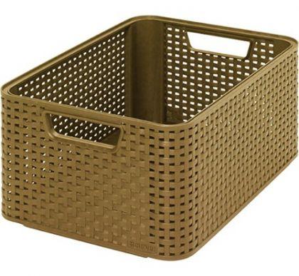 Ящик для хранения плетеный Раттан 18л, разные цвета