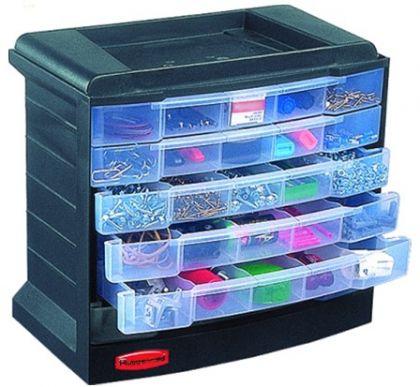 Ящик для мастерской с выдвижными ячейками