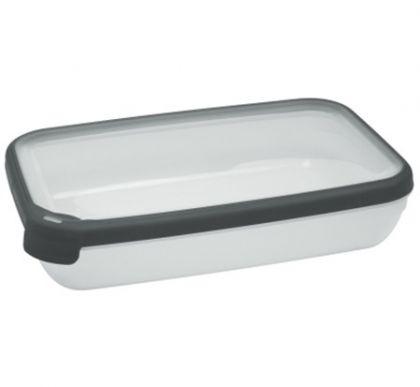 Контейнер для микроволновой печи прямоугольный 1,2л, разные цвета