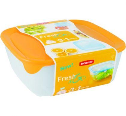 Набор контейнеров для микроволновой печи 4 шт, желтый