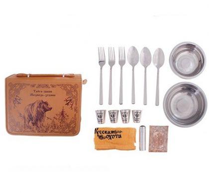 Набор посуды для пикника Медведь на четыре человека