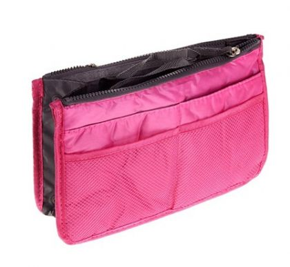 Органайзер для сумки темно розовый Chelsy большой