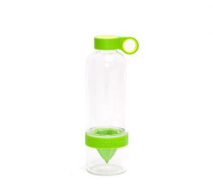 Бутылка с соковыжималкой Citrus Zinger, зеленый