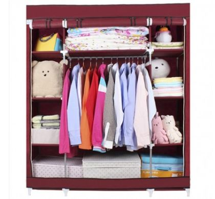 Тканевый шкаф Маджорити, бордовый