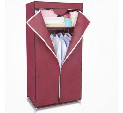 Тканевый шкаф Кармэн, бордовый
