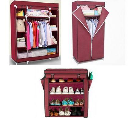Комплект из 3х шкафов, бордовый