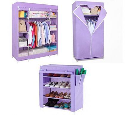Комплект из 3х шкафов, фиолетовый