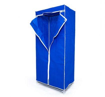 Тканевый шкаф для длинной одежды, синий