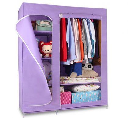 Тканевый шкаф Гардероб, фиолетовый