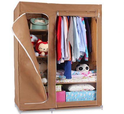 Тканевый шкаф Гардероб, коричневый