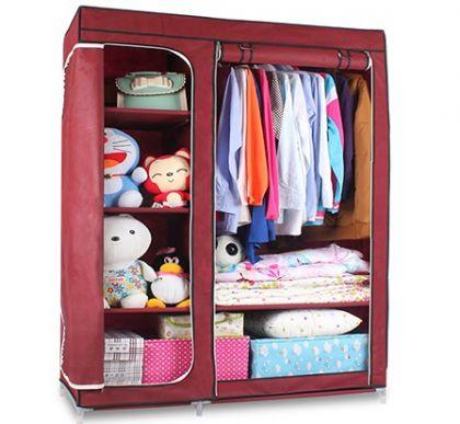 Тканевый шкаф Гардероб, бордовый