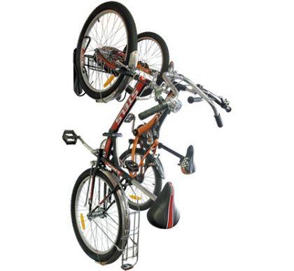 Подвесная система для вертикального хранения 2-х велосипедов