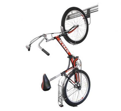 Подвес велосипедный для вертикального хранения на алюминиевых рельсах