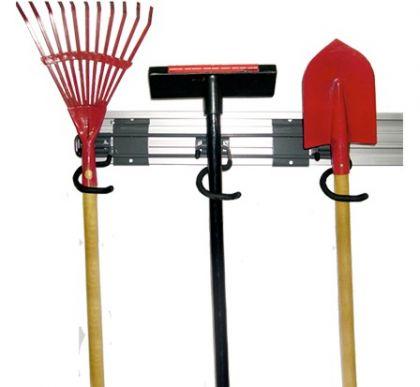 Держатель тройной S-образный для инструмента с длинной рукояткой