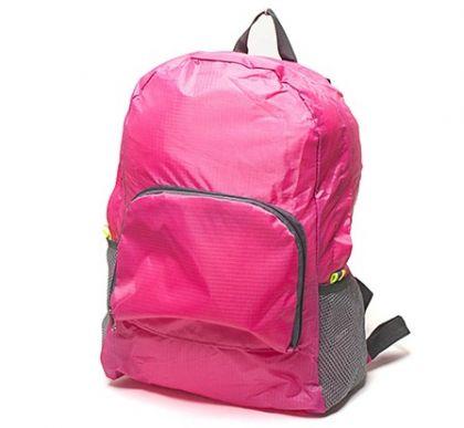 Рюкзак складной в дорогу, розовый