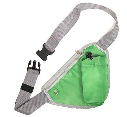Сумка на пояс или плечо, зеленая
