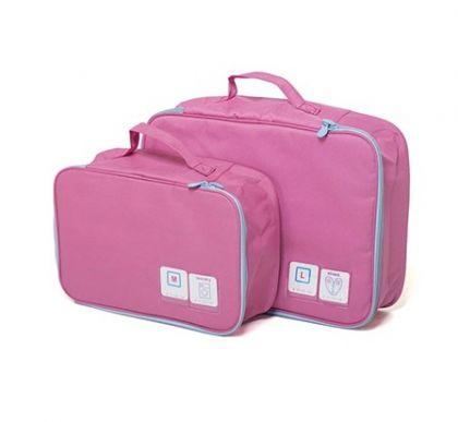 Чемоданный комплект из 2-х сумок, розовый