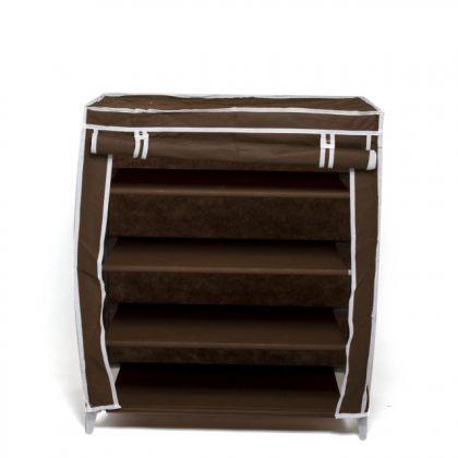 Тканевый шкаф для обуви Маджор, шоколадный