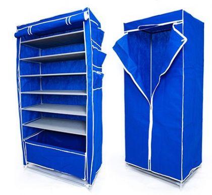 Комплект шкафов Элис Макси и шкаф для длинной одежды, синий