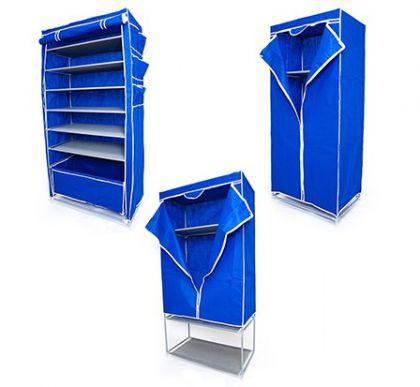 Комплект шкафов Элис Макси, Кармэн и шкаф с полкой для обуви, синий