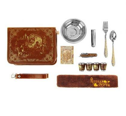Набор посуды для пикника Кабан на четыре человека