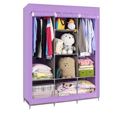 Тканевый шкаф Онтарио, фиолетовый