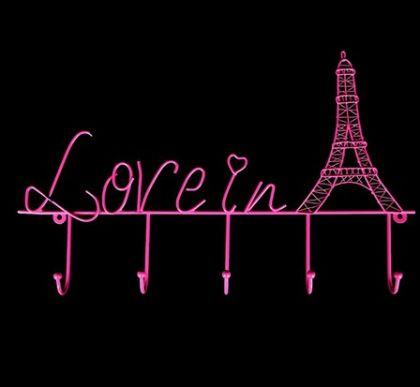"""Настенная ключница """"Любовь в Париже"""""""