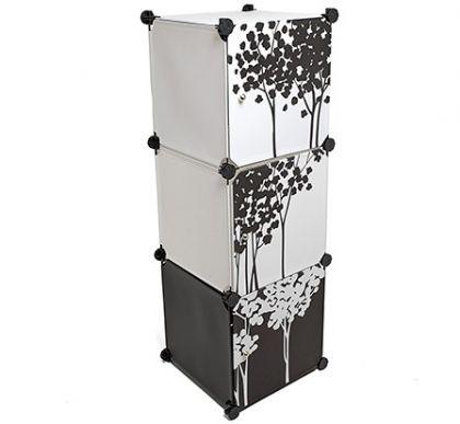 Стеллаж универсальный из 3 модулей с дверцами
