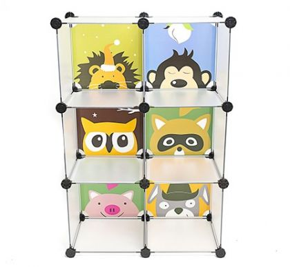 Детский кубический шкаф из 6 модулей